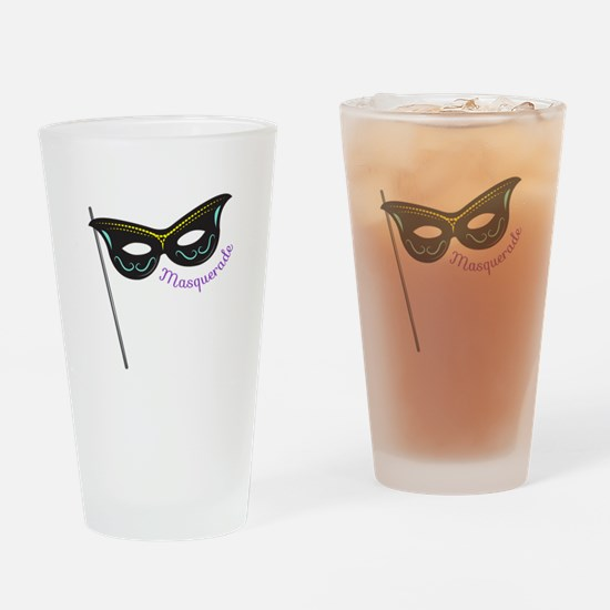 Masquerade Drinking Glass