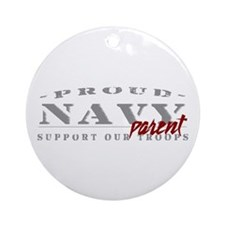 Proud Navy Parent (red) Ornament (Round)