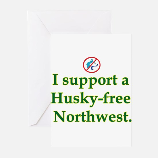 Husky Free NW Greeting Cards (Pk of 10)