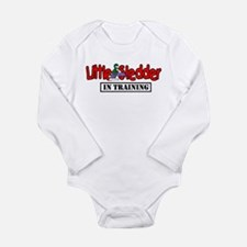 Little Sledder in Trai Long Sleeve Infant Bodysuit