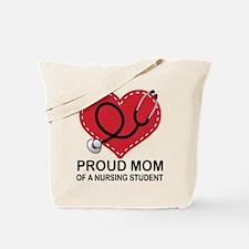 Proud Mom Nursing Student Tote Bag
