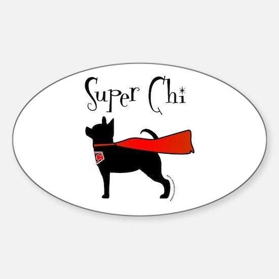 Super Chi Oval Bumper Stickers