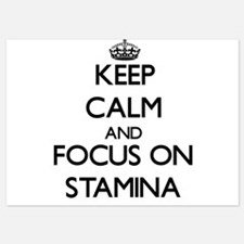 Keep Calm and focus on Stamina Invitations