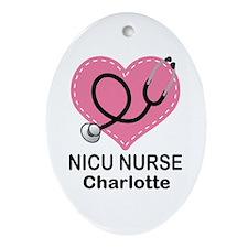 Personalized NICU Nurse Ornament (Oval)