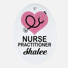 Nurse Practitioner personalized Ornament (Oval)