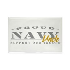 Proud Navy Uncle (gold) Rectangle Magnet