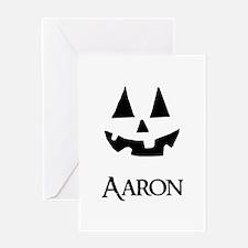 Aaron Halloween Pumpkin face Greeting Cards