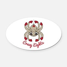 Crazy Eights Oval Car Magnet