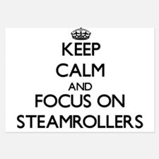 Keep Calm and focus on Steamrollers Invitations