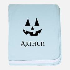 Arthur Halloween Pumpkin face baby blanket