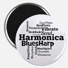 Harmonica Word Cloud Magnets