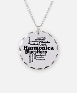 Harmonica Word Cloud Necklace