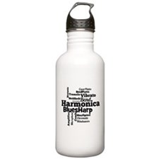 Harmonica Word Cloud Water Bottle