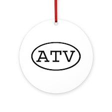 ATV Oval Ornament (Round)