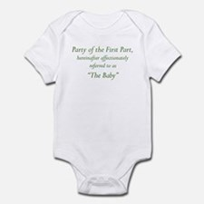 Party of the First Part Onesie