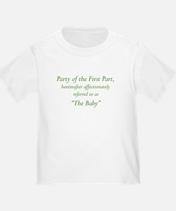 Party of the First Part T