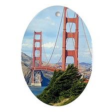 Golden Gate Oval Ornament