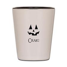 Craig Halloween Pumpkin face Shot Glass