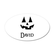 David Halloween Pumpkin face Wall Decal