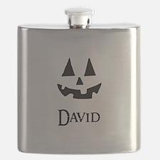 David Halloween Pumpkin face Flask