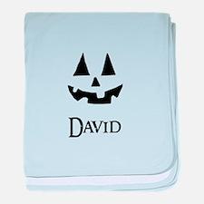 David Halloween Pumpkin face baby blanket