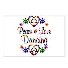 Peace Love Dancing Postcards (Package of 8)