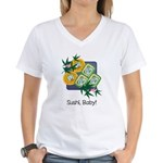 Sushi Baby Women's V-Neck T-Shirt