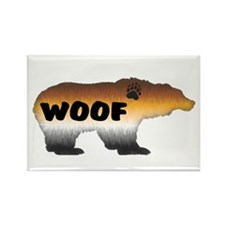 FURRY PRIDE BEAR/WOOF Rectangle Magnet
