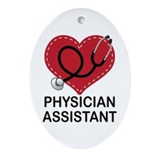 Physician Assistant Ornament (Oval)