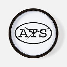 ATS Oval Wall Clock