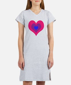 Bisexual Hearts Stacking Women's Nightshirt