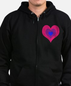 Bisexual Hearts Stacking Zip Hoody