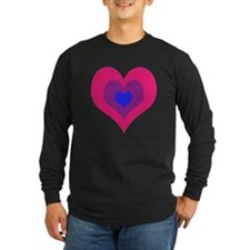 Bisexual Hearts Stacking Long Sleeve T-Shirt