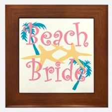 Beachbride2pink.png Framed Tile