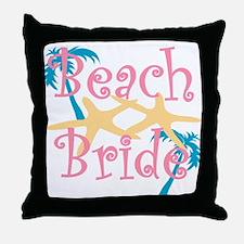 beachbride2pink.png Throw Pillow