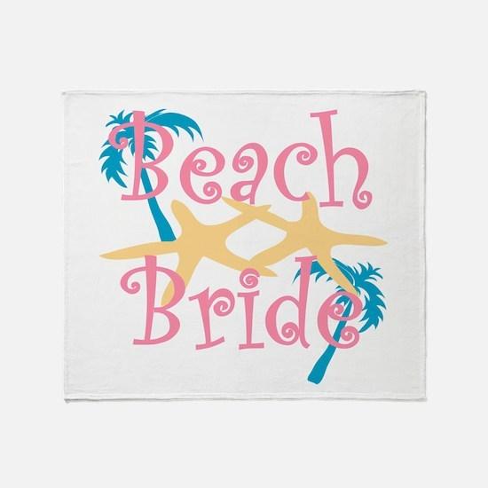 Beachbride2pink.png Throw Blanket