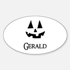 Gerald Halloween Pumpkin face Decal