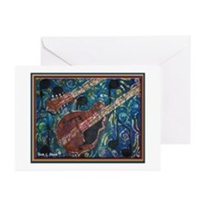 Mandolin Greeting Cards Pkg of 10