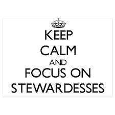 Keep Calm and focus on Stewardesses Invitations