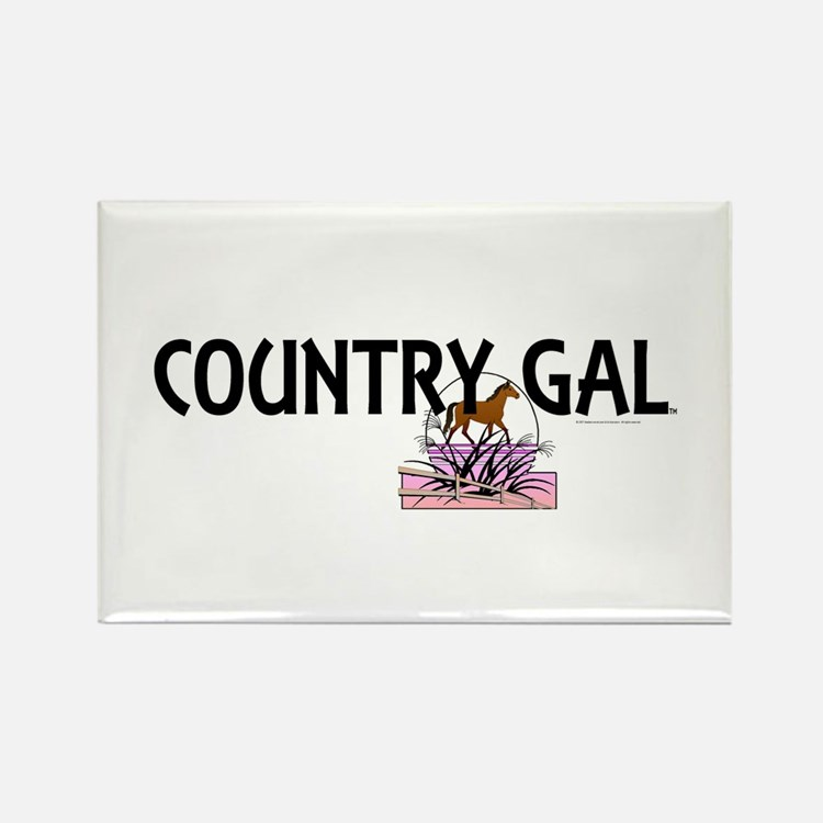 Country Gal Rectangle Magnet