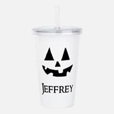 Jeffrey Halloween Pumpkin face Acrylic Double-wall