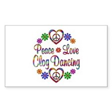 Peace Love Clog Dancing Decal