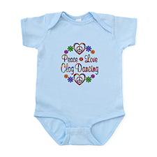 Peace Love Clog Dancing Infant Bodysuit