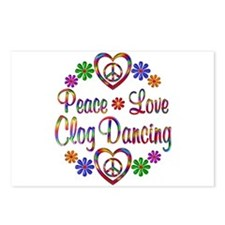 Peace Love Clog Dancing Postcards (Package of 8)