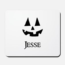 Jesse Halloween Pumpkin face Mousepad