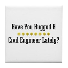 Hugged Civil Engineer Tile Coaster