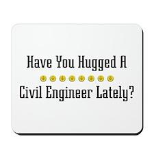 Hugged Civil Engineer Mousepad