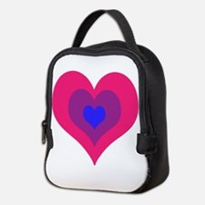 Bisexual Hearts Stacking Neoprene Lunch Bag
