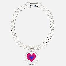 Bisexual Hearts Stacking Bracelet