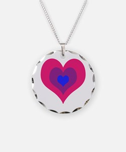 Bisexual Hearts Stacking Necklace